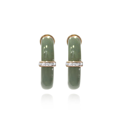 [Made-to-Order] Purity Earring in Dark Green Jade