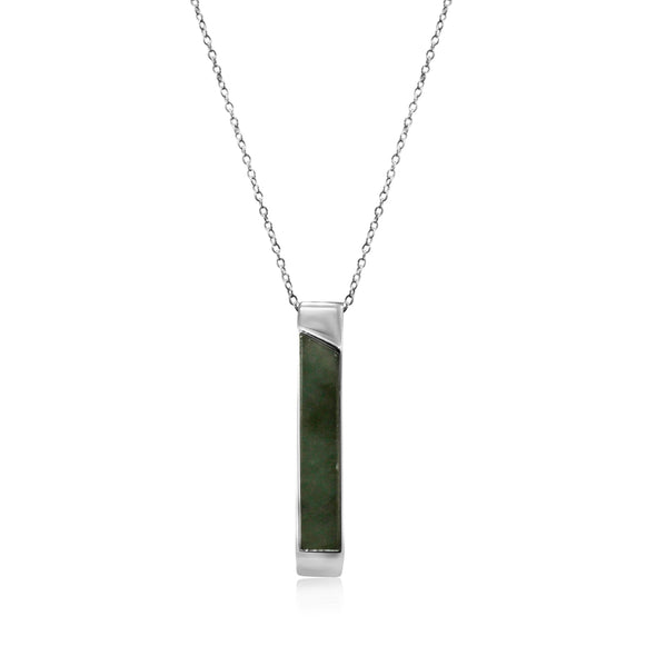 GEN.K HOMME: Joel Bar Jade Necklace