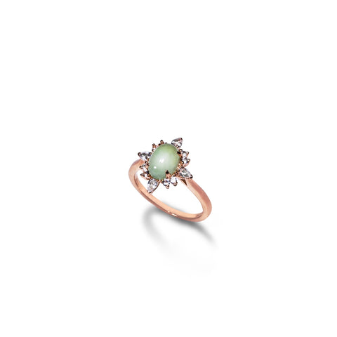 Sunburst V1 Jade Ring (14K Solid Gold)