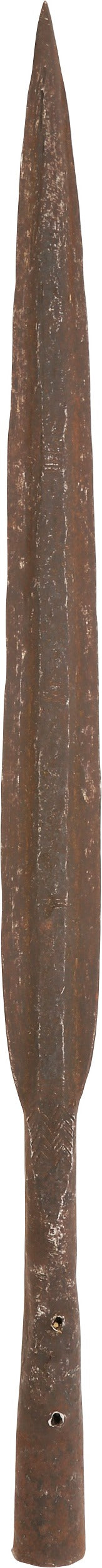 CONGOLESE SLAVER'S SPEAR, MID 19TH CENTURY