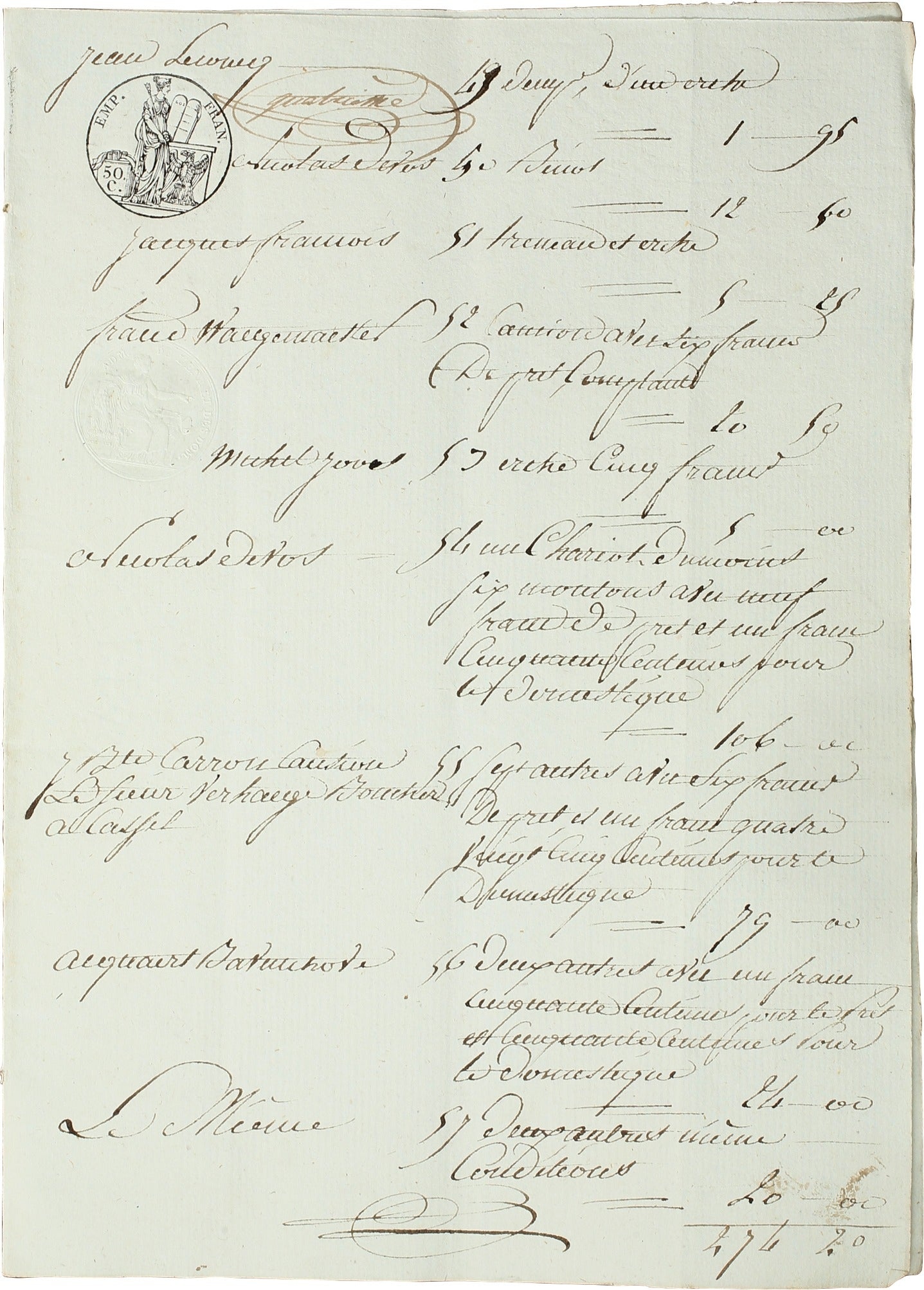NAPOLEONIC FRENCH LEGAL DOCUMENT