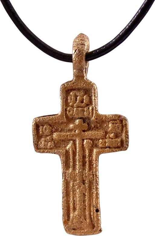 EASTERN EUROPEAN CROSS NECKLACE, 17th-18th CENT JEWELRY
