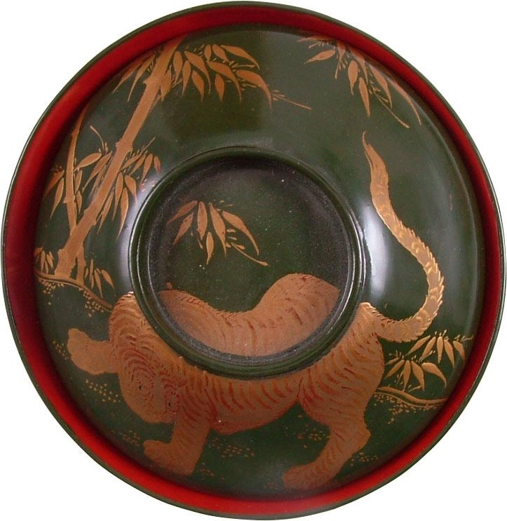 FINE JAPANESE LACQUER BOWL, OWAN. MEIJI PERIOD, BEFORE 1912