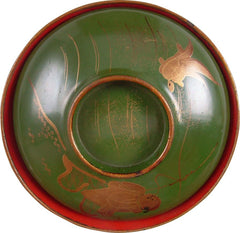 JAPANESE LACQUERED BOWL WITH COVER - Fagan Arms