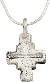 MEDIEVAL PILGRIM'S RELIQUARY CROSS NECKLACE 7th-10th CENTURY