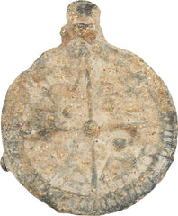 ENGLISH PILGRIM'S CHRISTIAN BADGE, 14TH-15TH CENTURY AD