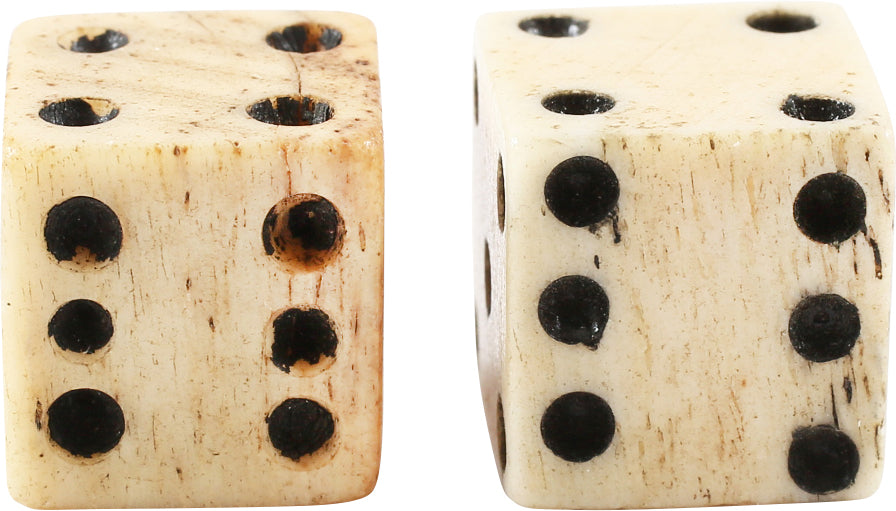 PAIR OF REVOLUTIONARY WAR BONE DICE