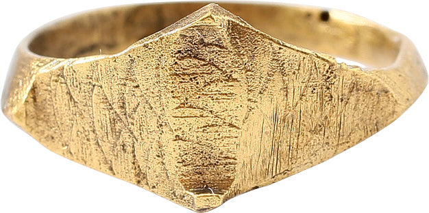 MEDEIVAL EUROPEAN RING, 11TH-14TH CENTURY AD, SIZE 8 ¼