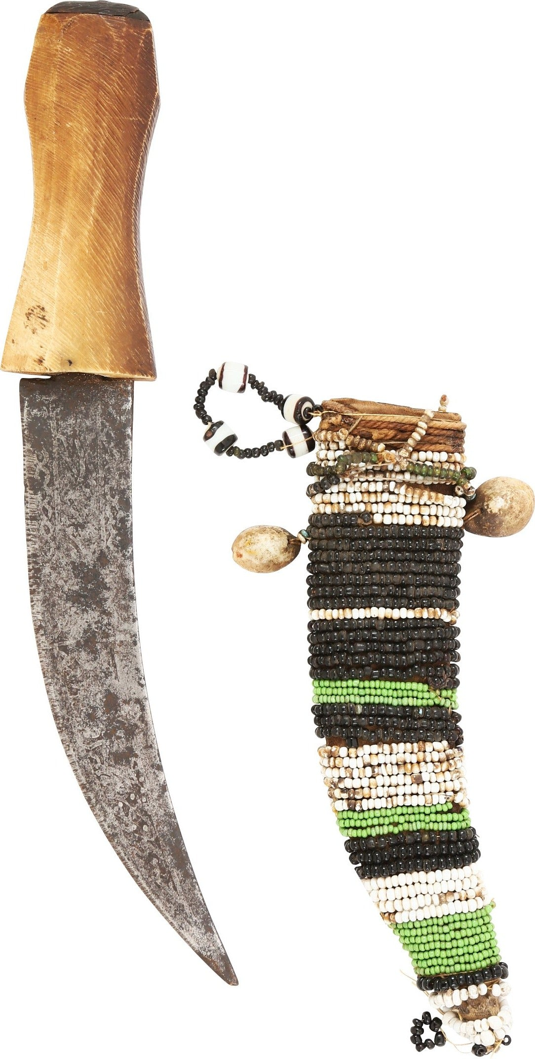 MAHDIST BEADED SHEATH DAGGER C.1885