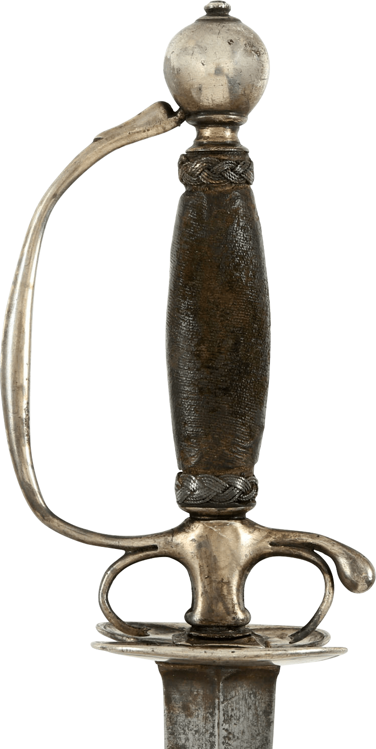 RARE AMERICAN SILVER HILTED SMALLSWORD C.1725 - Fagan Arms