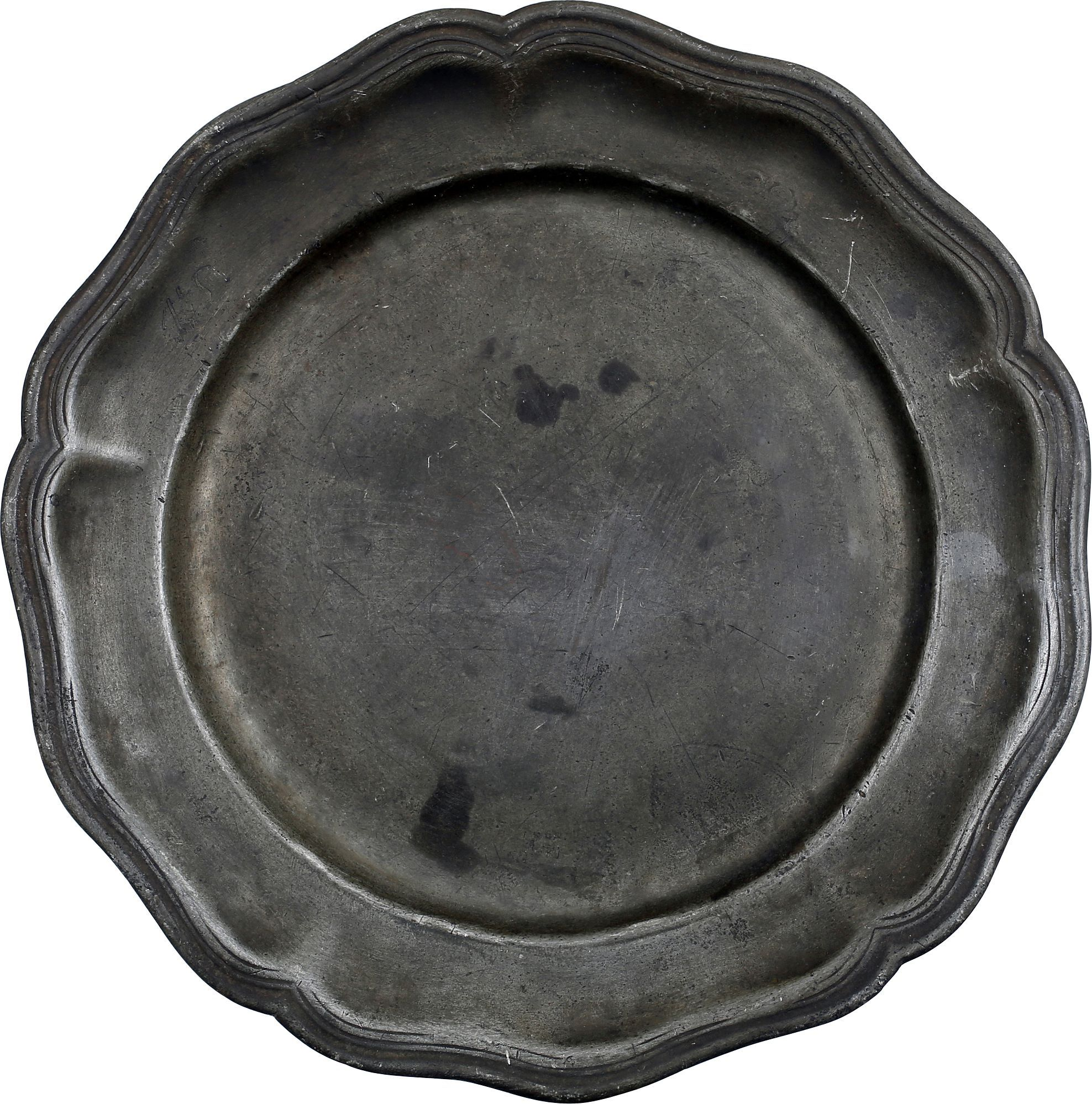 18th CENTURY FRENCH PEWTER PLATE - Fagan Arms