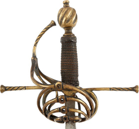 VICTORIAN COPY OF A SWEPT HILT RAPIER C.1600-30
