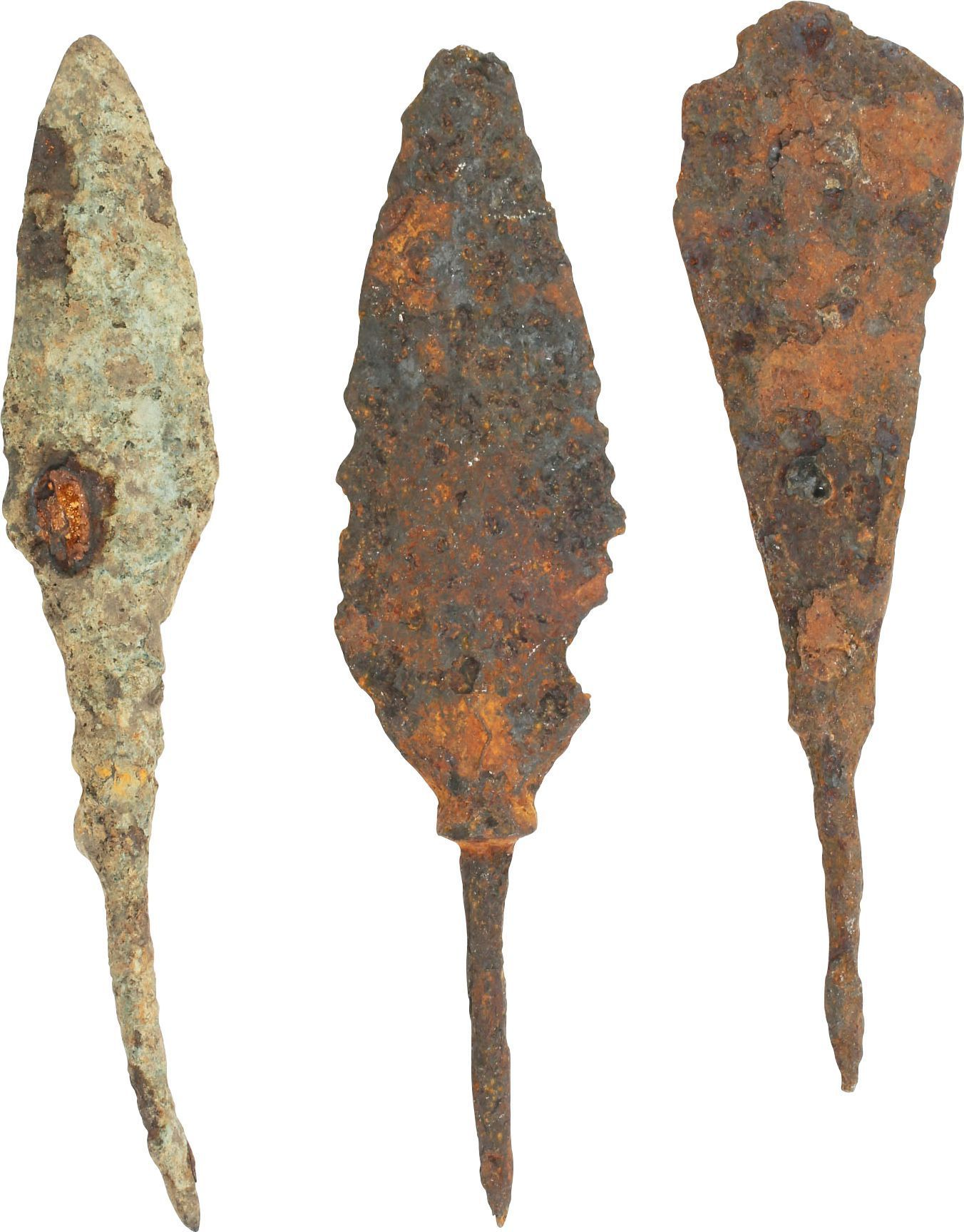 Three  Iron Arrowheads - Product