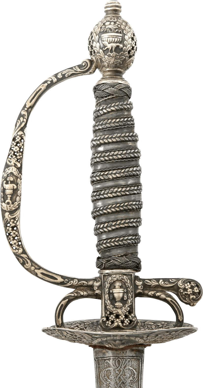 MAGNIFICENT SILVER HILTED SMALLSWORD C.1750-60