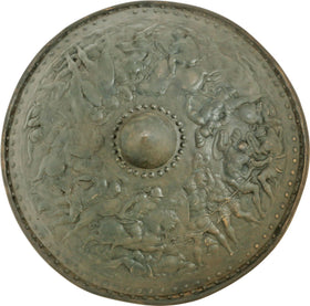 FINE VICTORIAN COPY OF A RENAISSANCE IRON SHIELD