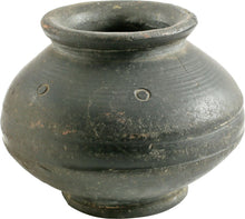 GREEK (ANATOLIAN) BLACK WARE JAR, 2nd MILLENNIUM BC