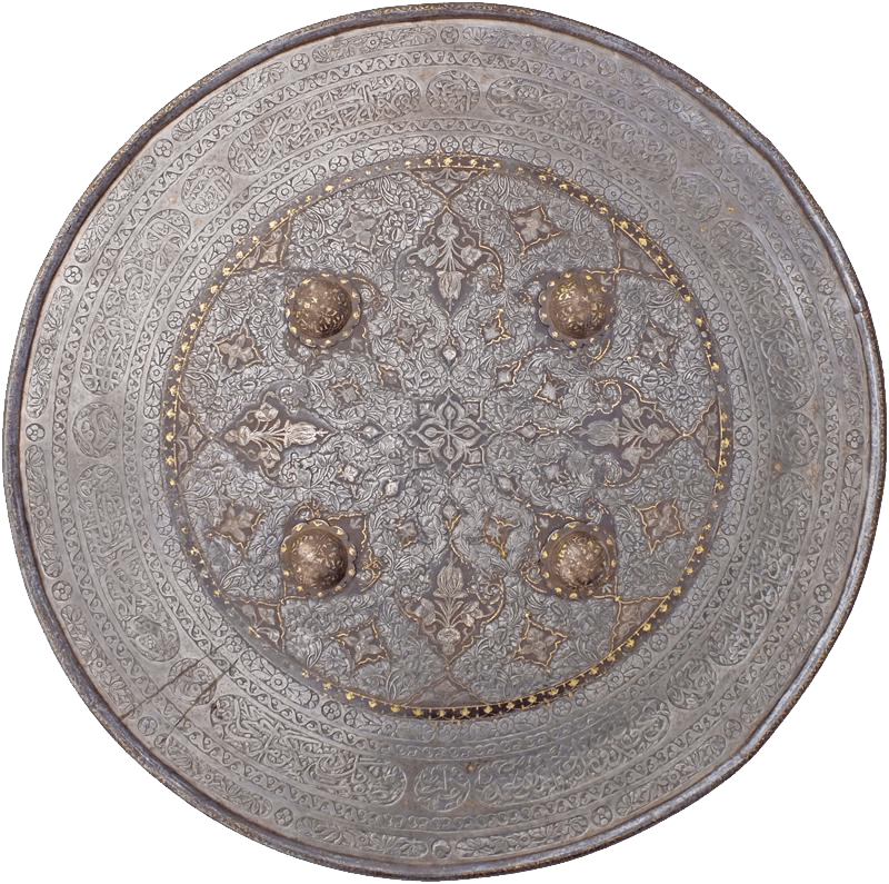 Magnificent Indopersian Iron Shield Late 17Th-19Th Century - Product