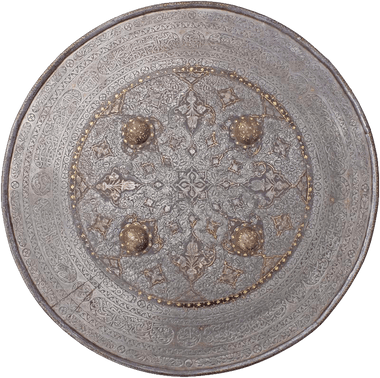 MAGNIFICENT INDOPERSIAN IRON SHIELD LATE 17th-19th CENTURY