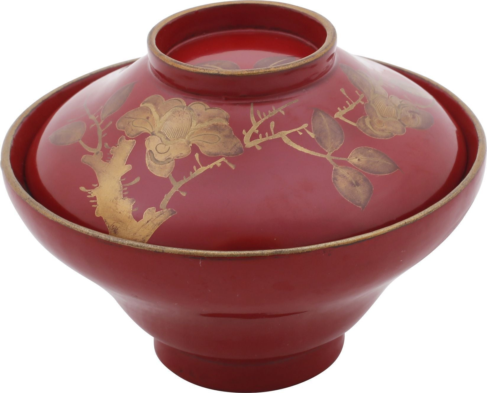 Japanese Lacquer Bowl And Cover - Product