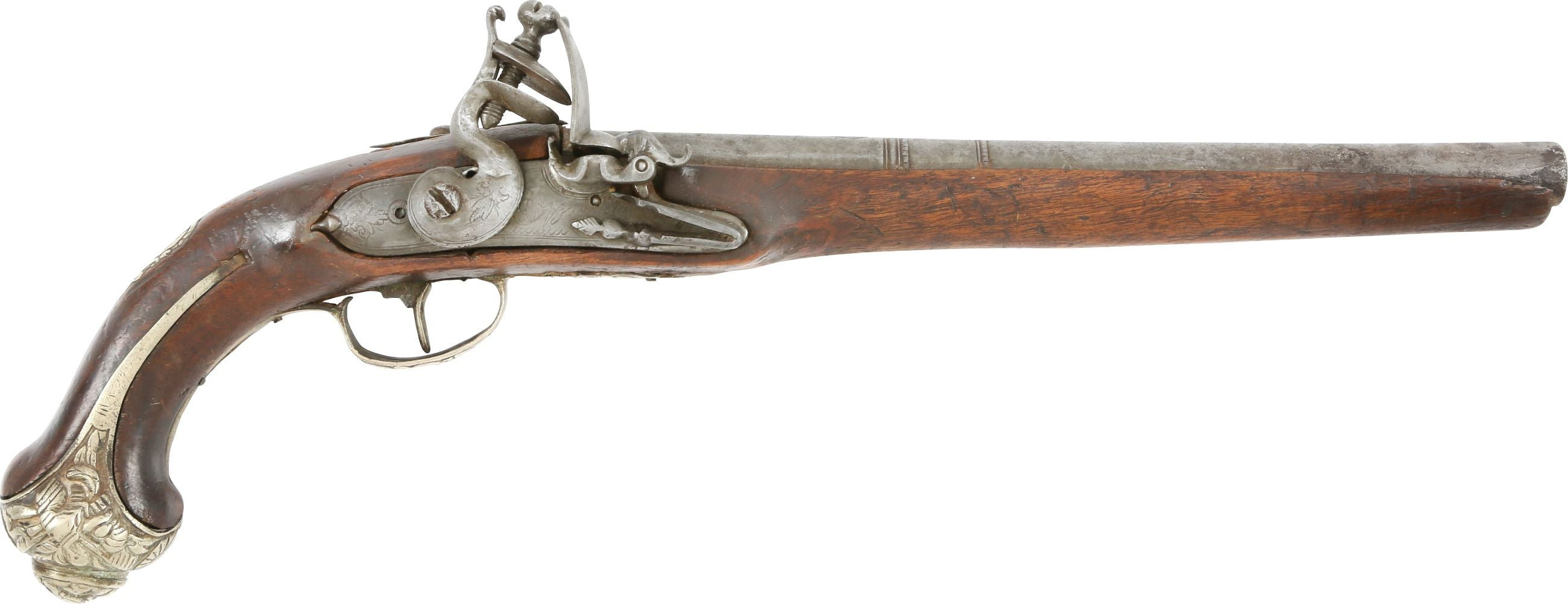 OTTOMAN TURKISH PISTOL IN THE EUROPEAN TASTE, LATE 18TH CENTURY