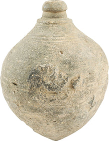 BYZANTINE POTTERY GRENADE - GREEK FIRE C. 9th CENTURY AD - WAS $625