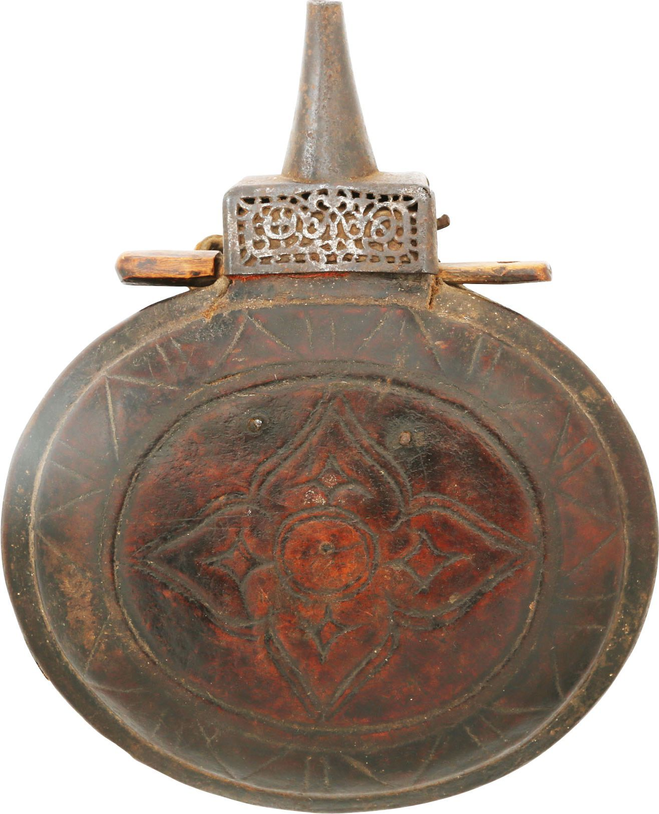 AFGHAN POWDER FLASK C.1800
