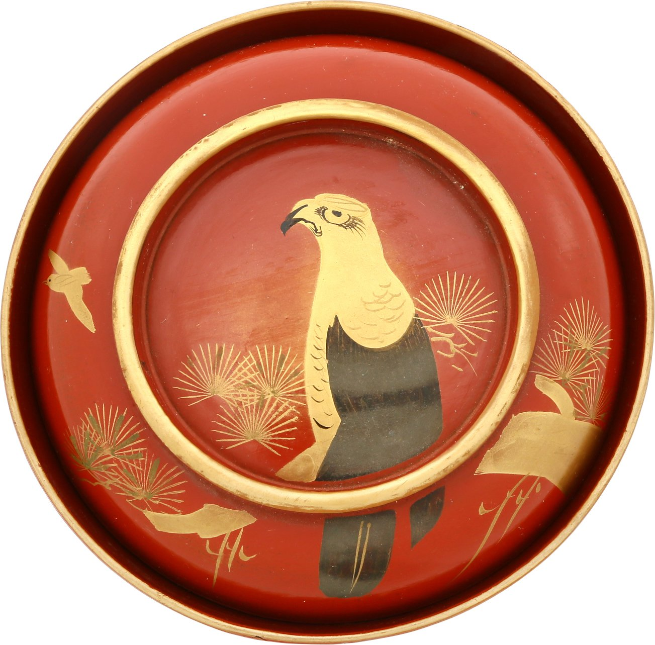 JAPANESE LACQUERED BOWL, OWAN. Meiji period, before 1912