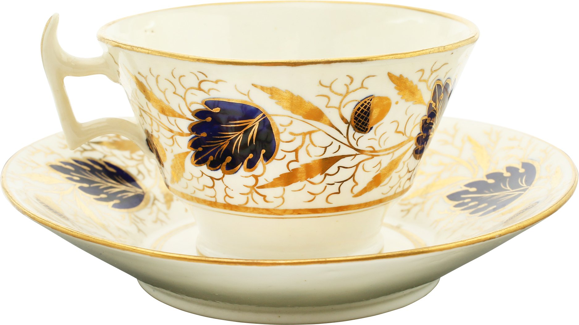 COALPORT PORCELAIN TEA CUP AND SAUCER, C.1815-20