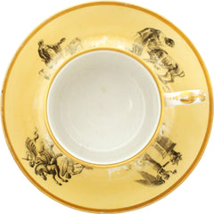WORCESTER PORCELAIN COFFEE CUP AND SAUCER C.1810