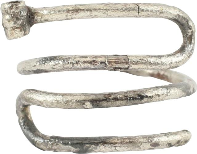 VIKING SILVER HAIR RING. 10TH-11TH century AD.