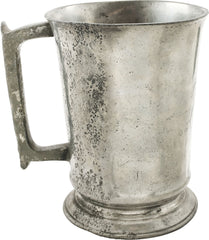 English Pewter Pub Tankard, Victorian Period - Fagan Arms
