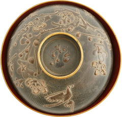 JAPANESE LACQUER BOWL OWNA. Meiji Period.