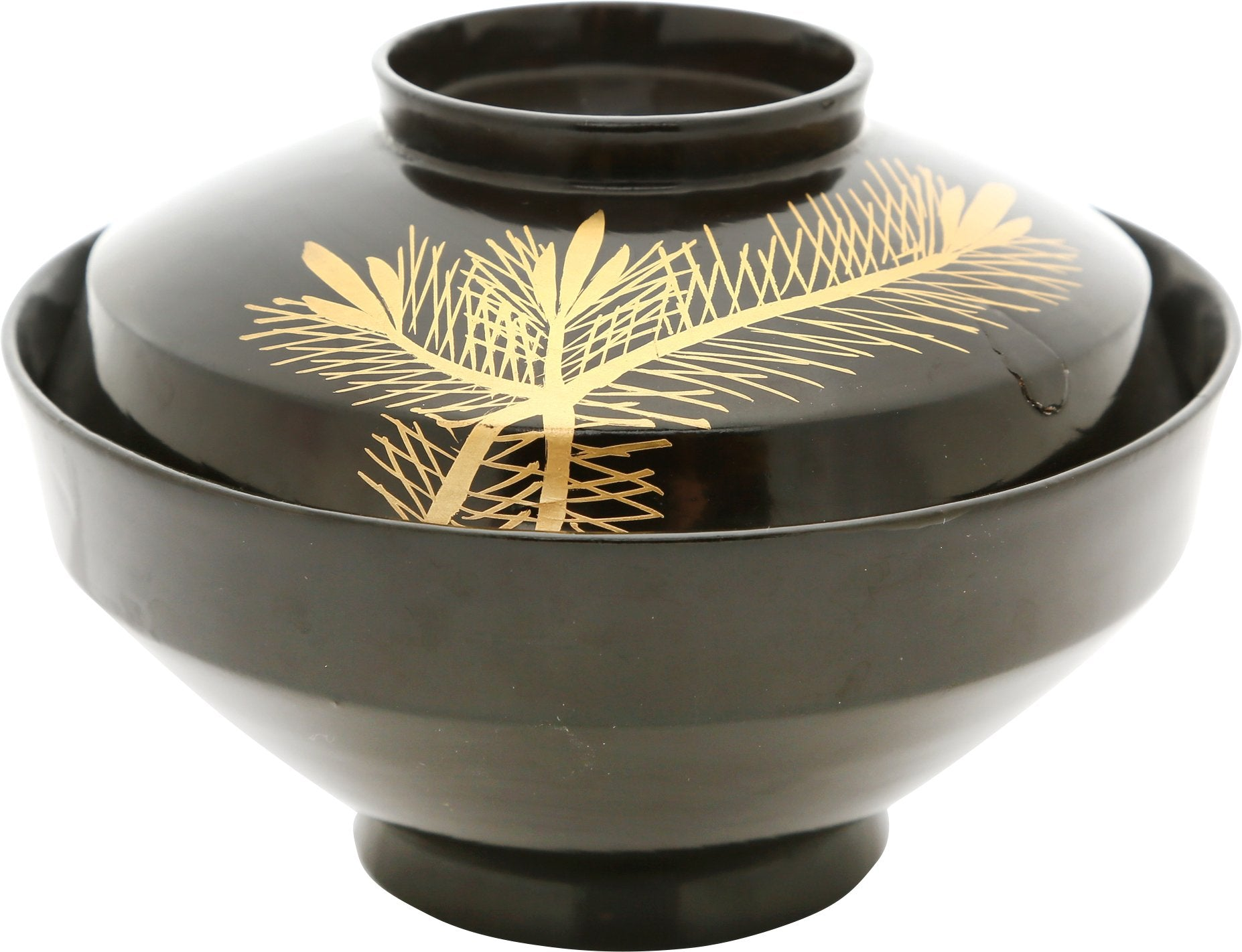 JAPANESE LACQUERED BOWL OWAN, MEIJI PERIOD.  1867-1912