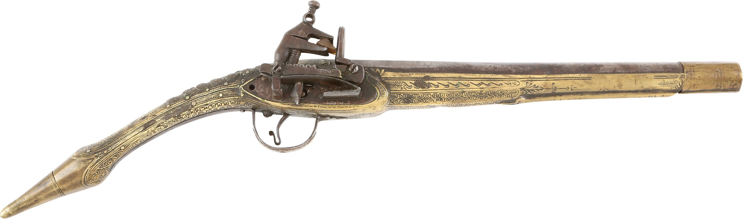 GOOD ALBANIAN (OTTOMAN) MIQUELET PISTOL C.1800-EARLY 19th CENTURY
