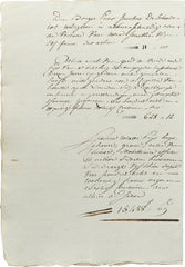 NAPOLEONIC FRENCH LEGAL DOCUMENT - Fagan Arms
