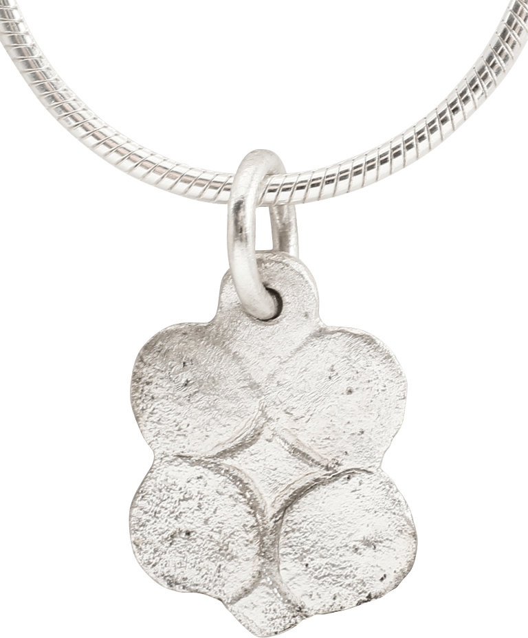 FRENCH QUATRAFOIL PENDANT NECKLACE C.1500 JEWELRY. - Fagan Arms