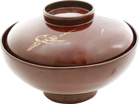 JAPANESE LACQUER BOWL AND COVER
