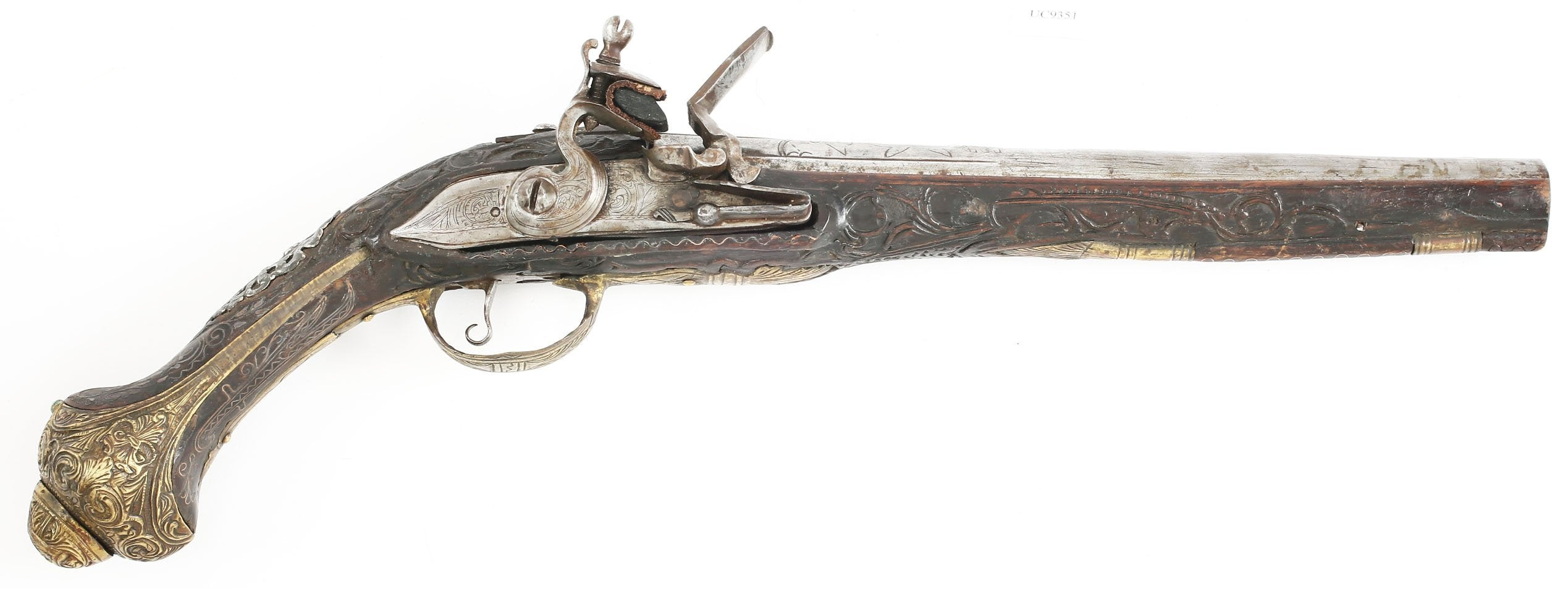 FINE TURKISH FLINTLOCK PISTOL.