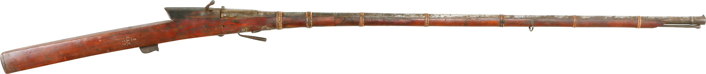 INDIAN MATCHLOCK MUSKET, 18TH CENTURY