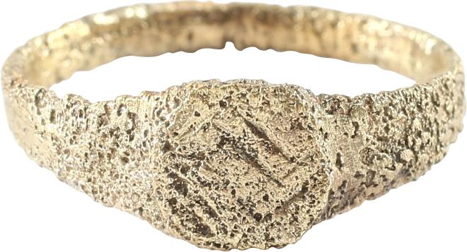 LATE ROMAN/MEDIEVAL RING SZ 4 1/2. 7th-10th century AD. - Fagan Arms