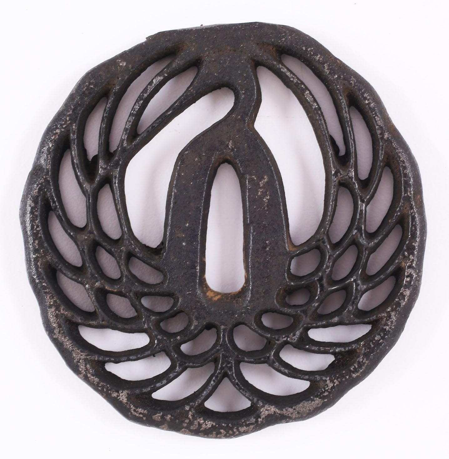 JAPANESE IRON SWORD GUARD TSUBA