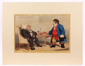 RARE ENGLISH POLITICAL SATIRE LITHOGRAPH, 1804.