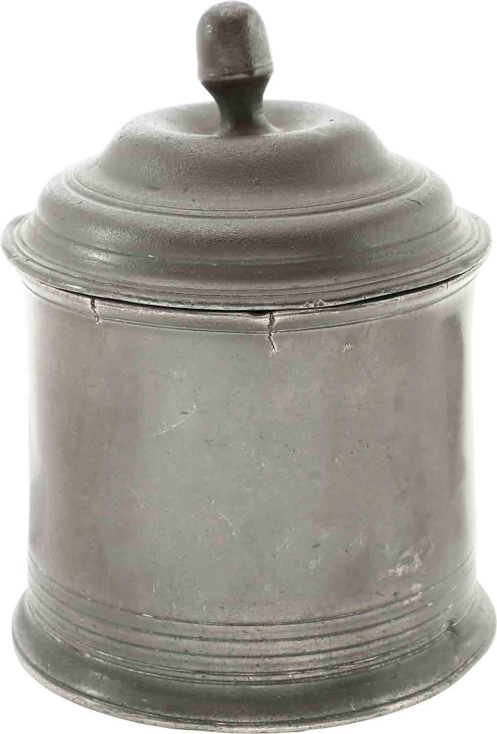 ENGLISH PEWTER TOBACCO JAR