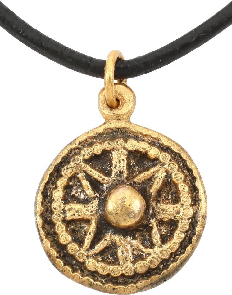 ROMAN WHEEL OF FORTUNE PENDANT