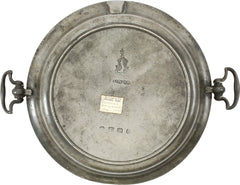BEAUTIFULLY MARKED PEWTER WARMING DISH C.1740-75