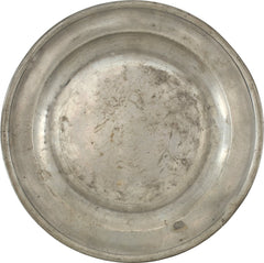 ENGLISH PEWTER PLATE C.1750