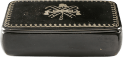 RARE FIRE FIGHTER MOTIF SNUFF BOX