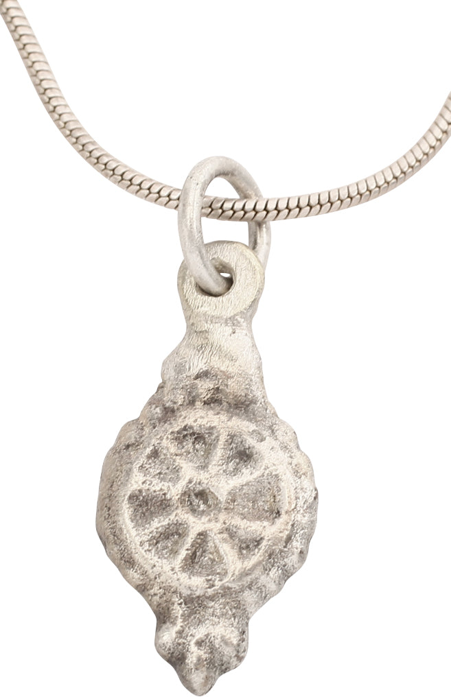 ROMAN WHEEL OF FORTUNE NECKLACE PENDANT 1st-5th CENTURY