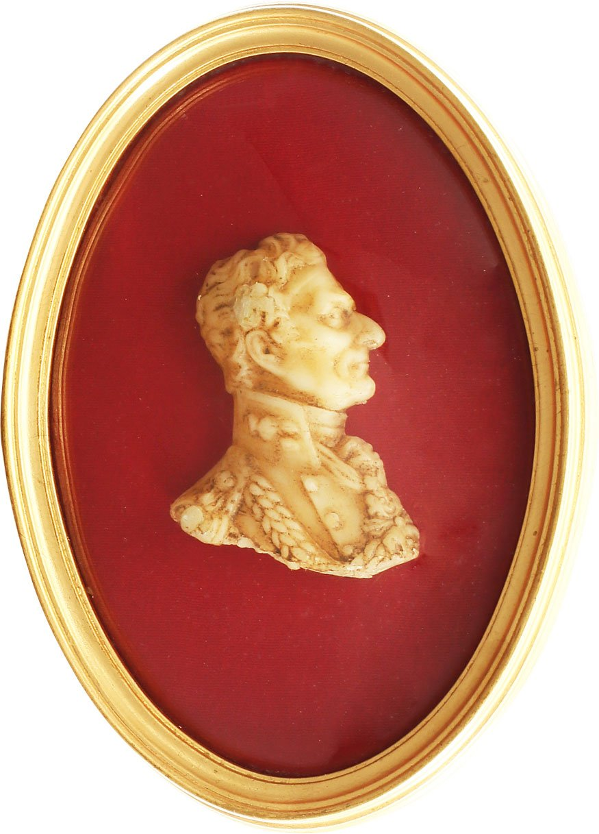 SCULPTED WAX BUST PORTRIAT OF WELLINGTON
