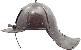 A EUROPEAN LOBSTERTAIL HELMET C.1630-50